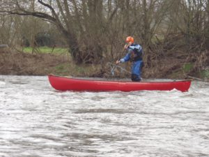 Open Boat Canoeing on the river Usk Brecon Beacons 3