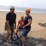 rock climbing with Simon and Rose