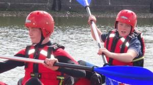 Canoeing North Dock Llanelli 2