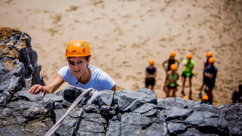 rock climbing in the Gower